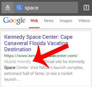 Google mobile friendly results